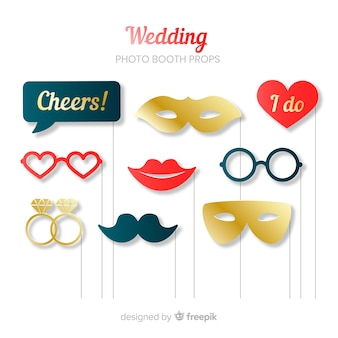 Wedding photo booth prop collection