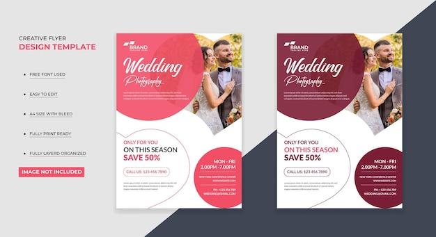 Wedding photography flyer design template