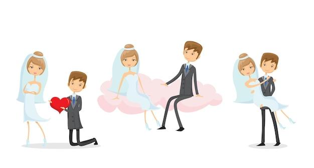 결혼식 사진, 낙서 스타일의 신랑과 신부를 사랑하십시오.