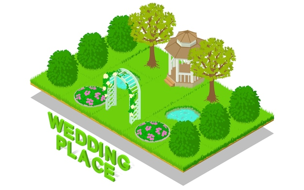 Wedding place concept scene