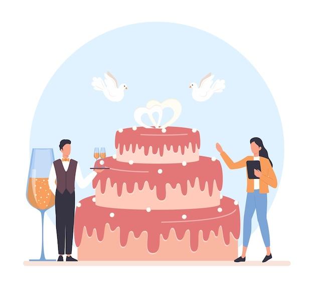 Иллюстрация концепции свадебного планировщика