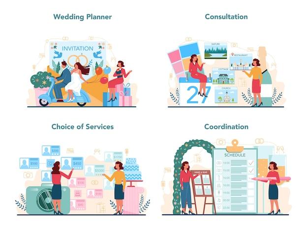Набор концепций свадебного планировщика