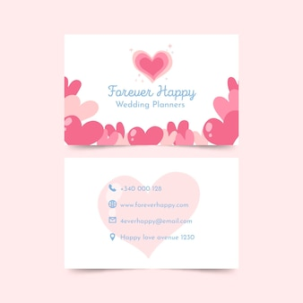 Wedding planner double sided business card