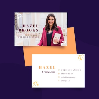 Wedding planner double-sided business card