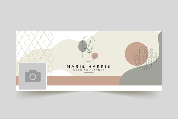 Wedding planner facebook cover template