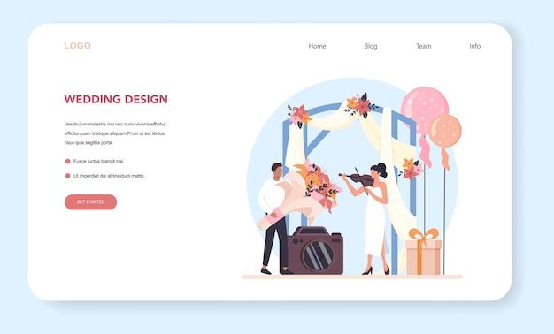 Wedding planner web banner or landing page