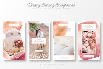 インスタストーリーの結婚式の計画の背景