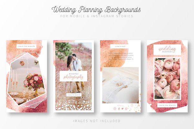 Wedding planning background for insta stories