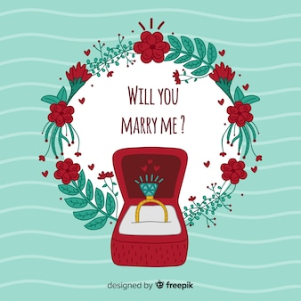Wedding proposal concept
