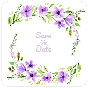Wedding purple background