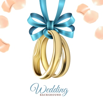 Wedding realistic background