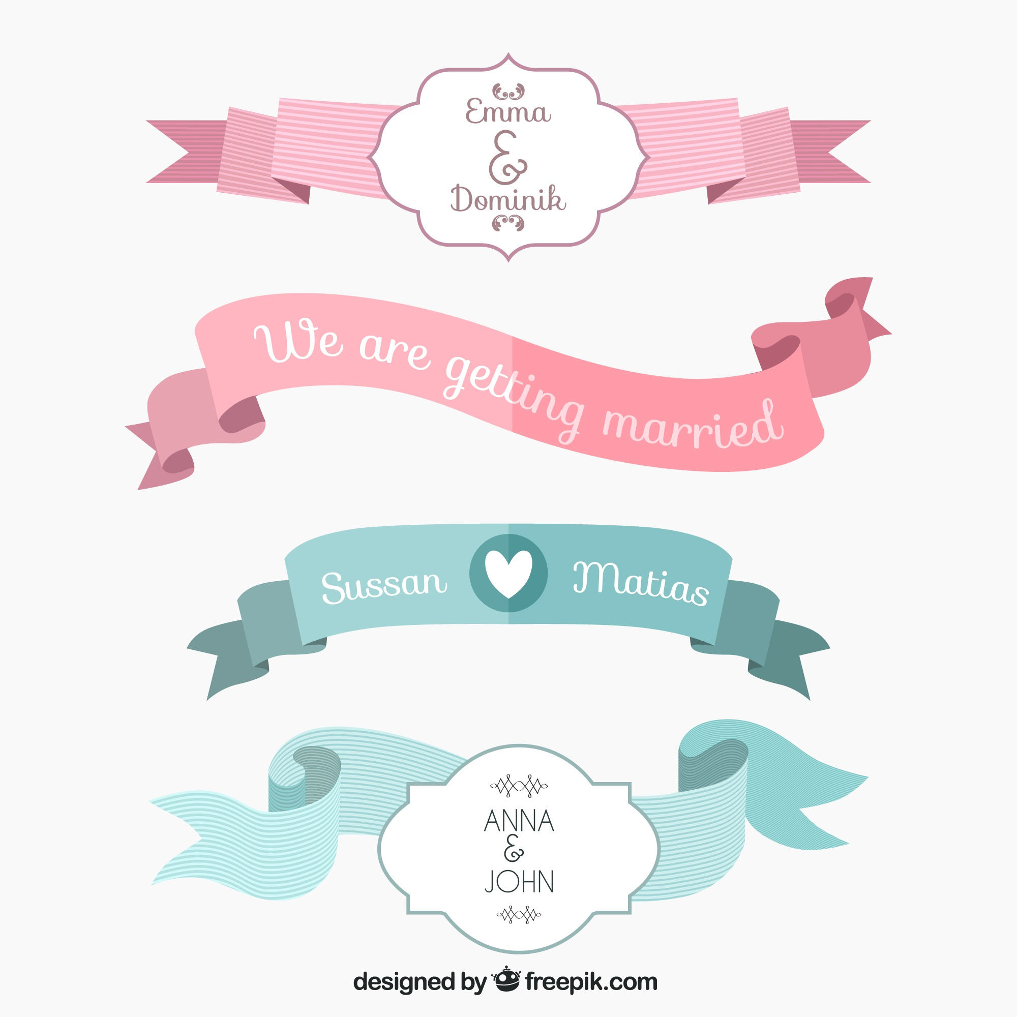 Wedding ribbons collection