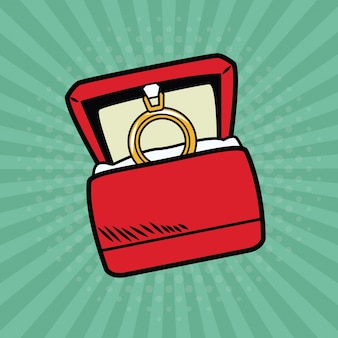 Wedding ring pop art