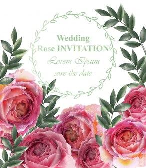 Wedding roses background