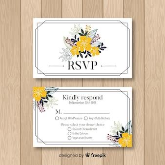 Свадебная карточка rsvp