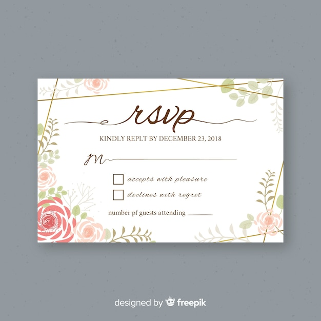 free wedding acceptance card template