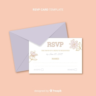 Wedding rsvp card