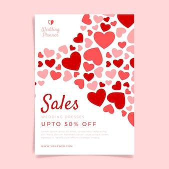 Modello di poster di vendita di nozze