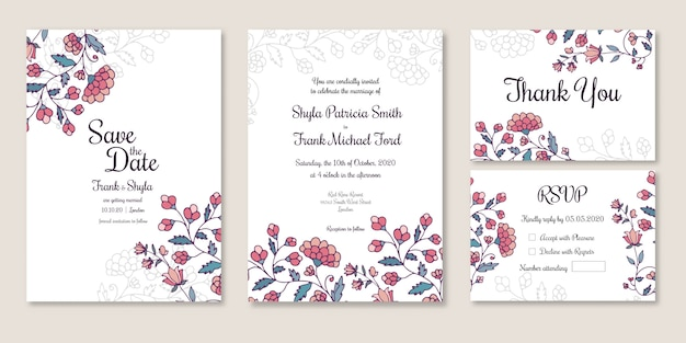 Wedding save the date, invitation, thank you, rsvp card