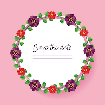 Wedding save the date rounded card