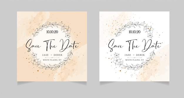 Wedding save the dates card
