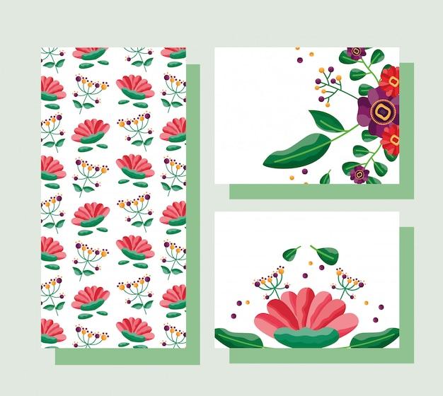 결혼식 날짜 꽃 카드를 저장