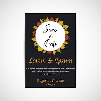 결혼식은 날짜, 초대 카드를 저장