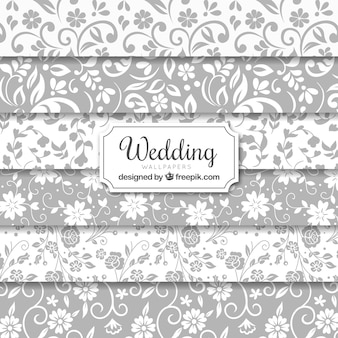 Wedding seamless backgrounds collection