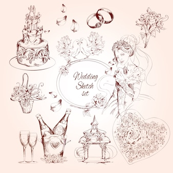 Wedding sketch set