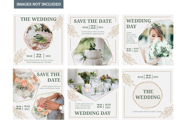 Wedding social media template