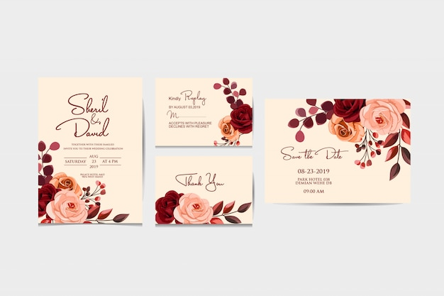 Wedding stationary template