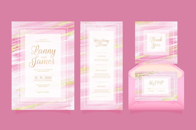 Wedding stationery concept