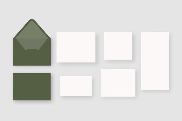 Набор свадебных канцелярских принадлежностей. изолированные. дизайн шаблона.