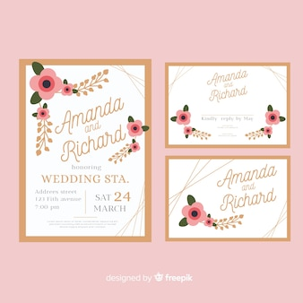 Wedding stationery template collection