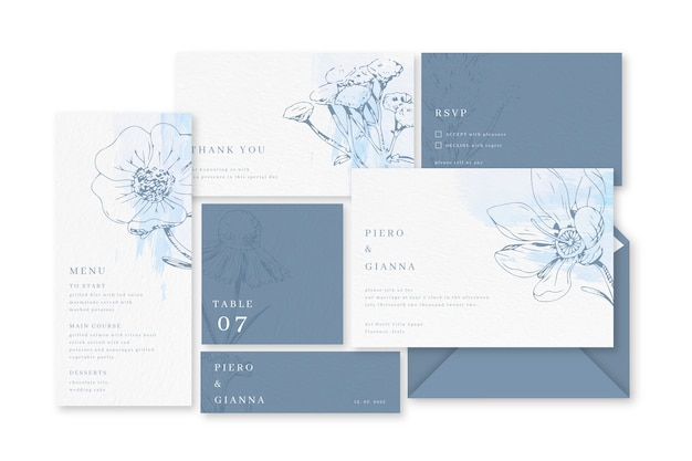 Wedding stationery template design