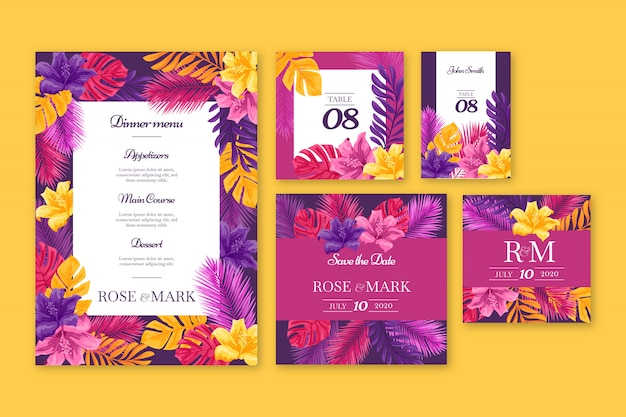 Wedding stationery templates
