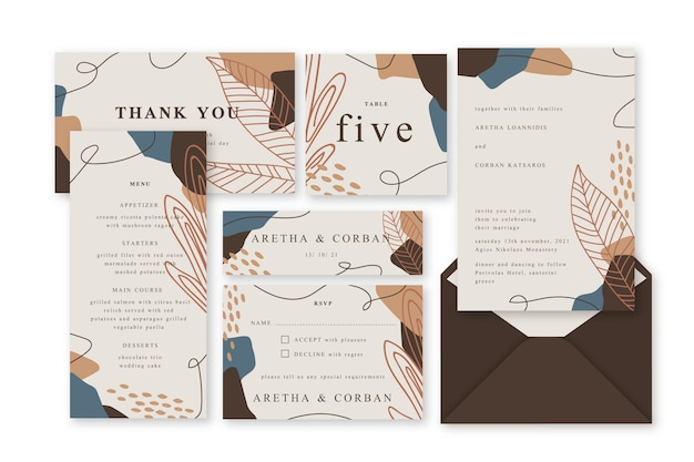 Wedding stationery terracotta template