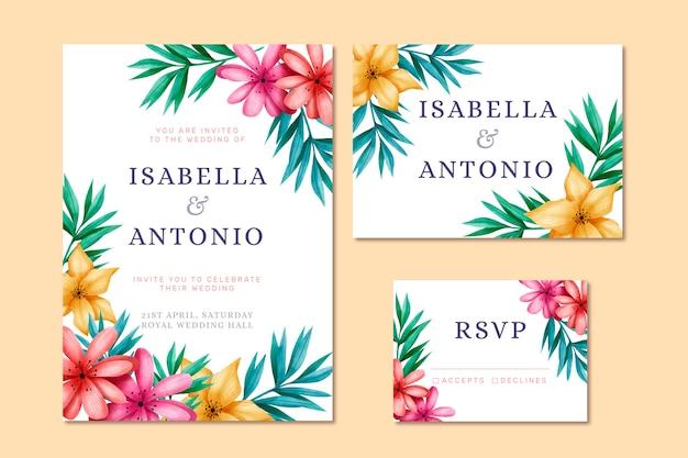 Свадебные канцтовары с цветами