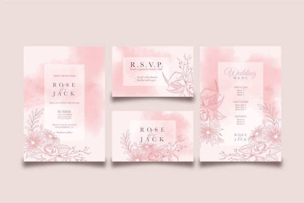 Wedding template concept and design