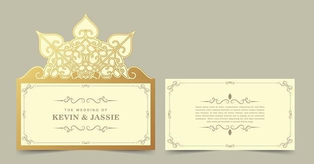 Wedding template cut invitation