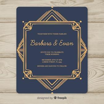 Свадебный шаблон с дизайном арт-деко