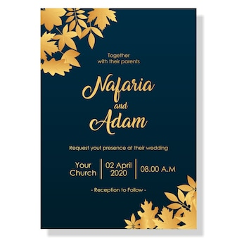 Wedding template with elegant flower