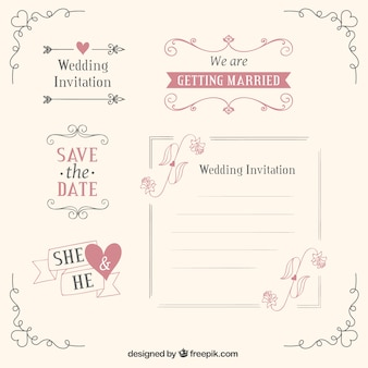 Wedding templates and decoration