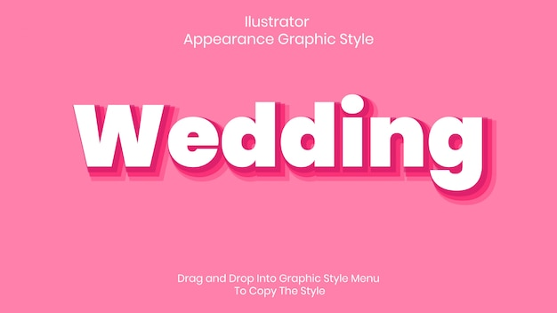 Wedding text style effect