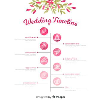 Wedding timeline in linear style template