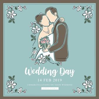 Wedding and valentine day