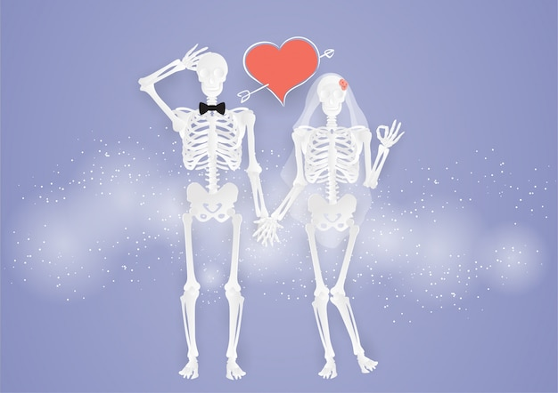 Wedding and valentine's day couple love of bone