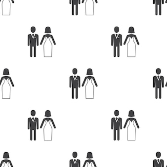 Wedding, vector seamless pattern, editable can be used for web page backgrounds, pattern fills