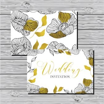 結婚式のビンテージ招待状。