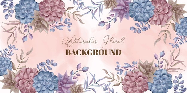 Wedding watercolor floral background